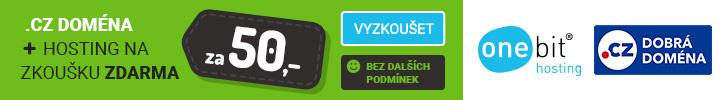 .cz doména za 50Kč + hosting na zkoušku zdarma